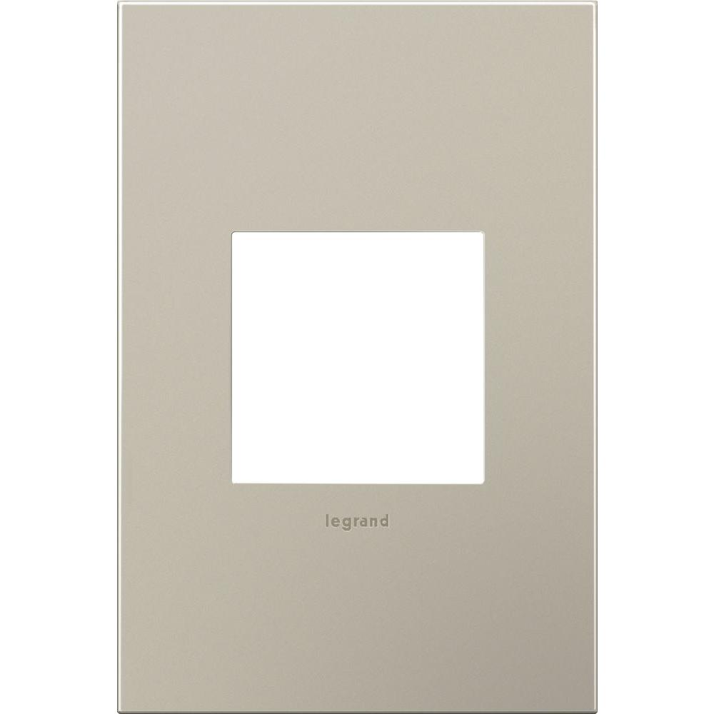 1-Gang 2 Module Wall Plate in Satin Nickel