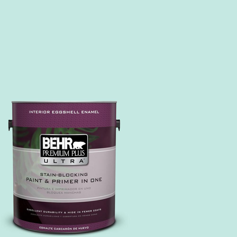 BEHR Premium Plus Ultra 1-gal. #P440-2 Clear Aqua Eggshell Enamel Interior Paint