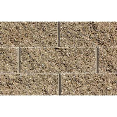 Sapphire 6 in. H x 17.25 in. W x 12 in. D Sandstone Concrete Retaining Wall Block (45-Piece/33.75 sq. ft./Pallet)