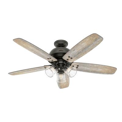 Deermont 52 in. LED Indoor Noble Bronze Ceiling Fan with Light and Remote Control