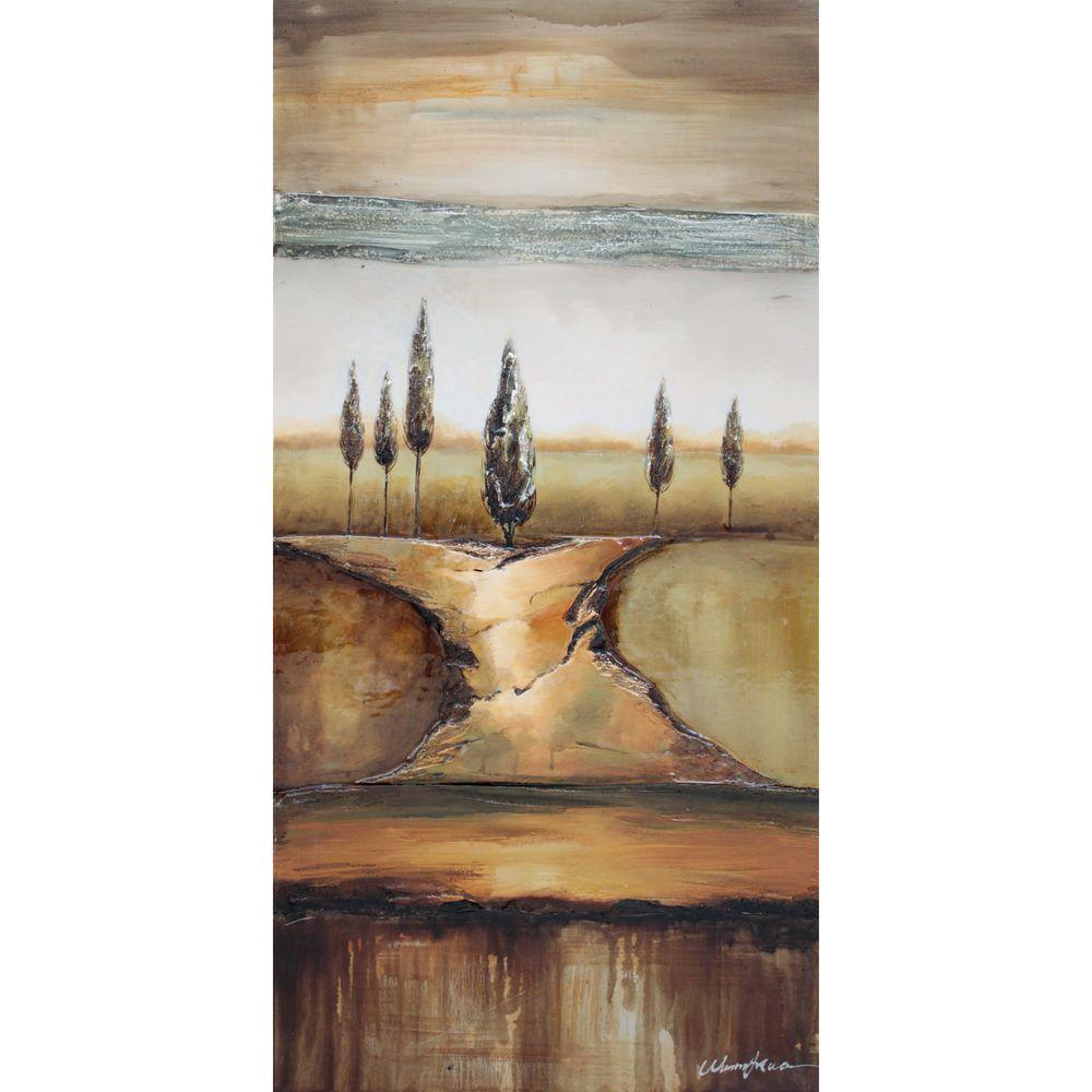Yosemite Home Decor 24 in. x 48 in. Shadow of Trees II Hand Painted Contemporary Artwork-DISCONTINUED