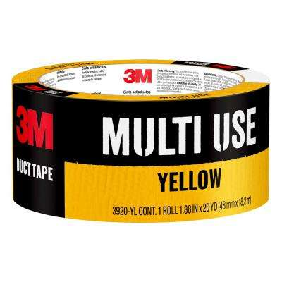 1.88 in. x 20 yds. Yellow Duct Tape (Case of 12)