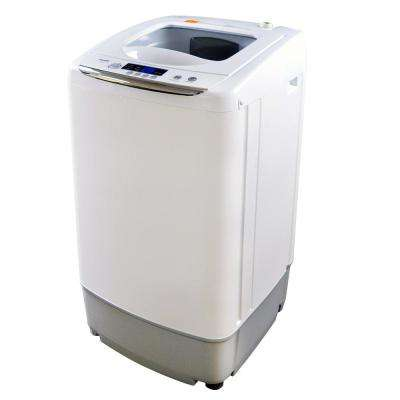 0.9 cu. ft. White Compact Portable Top Load Washer with Stainless Steel Tub