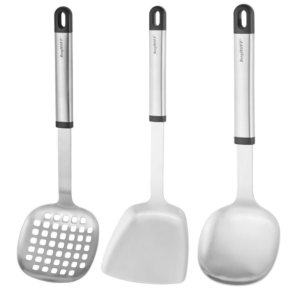 BergHOFF Essentials Stainless Steel 3-Piece Asian Prep Set