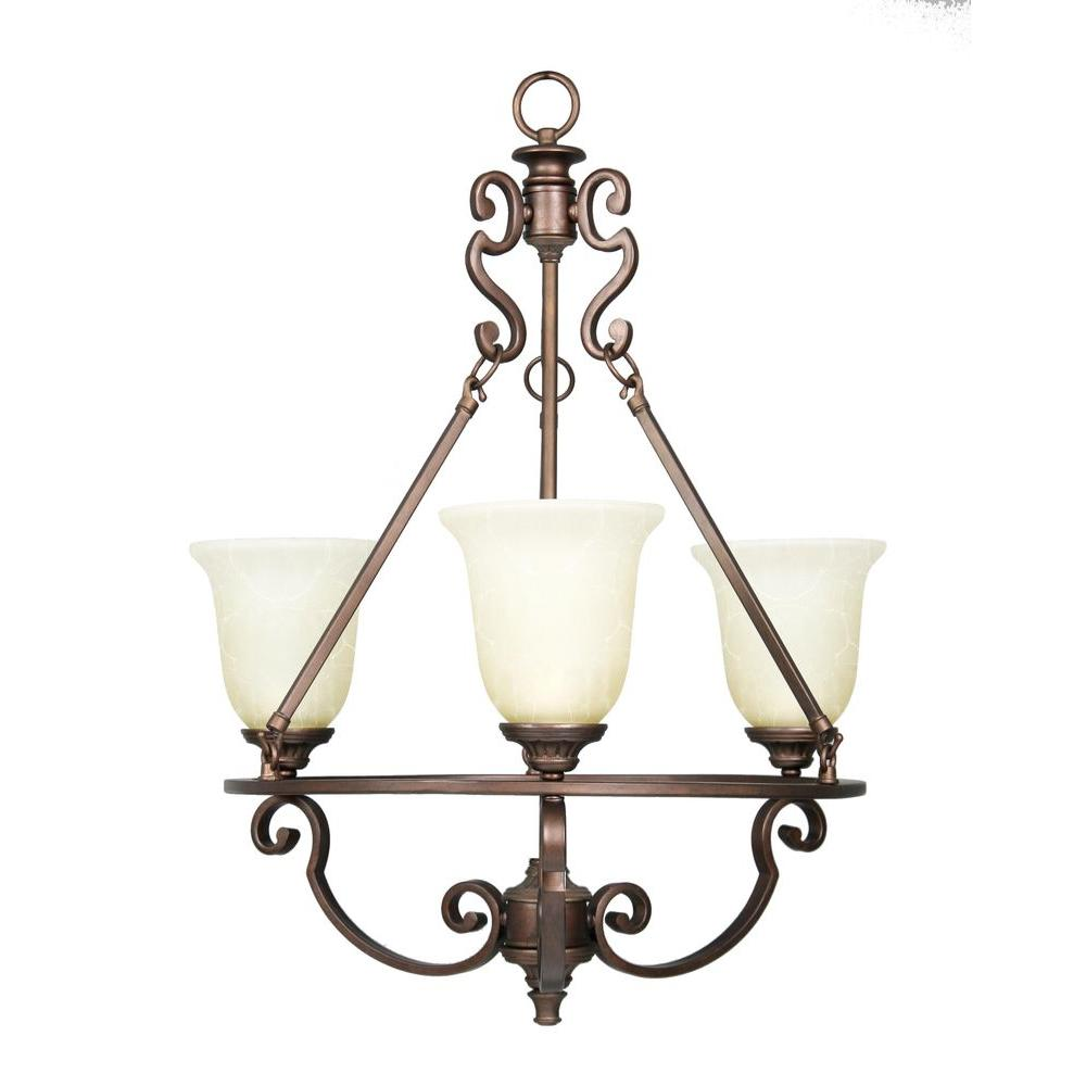 null Fairview 3-Light Heritage Bronze Chandelier