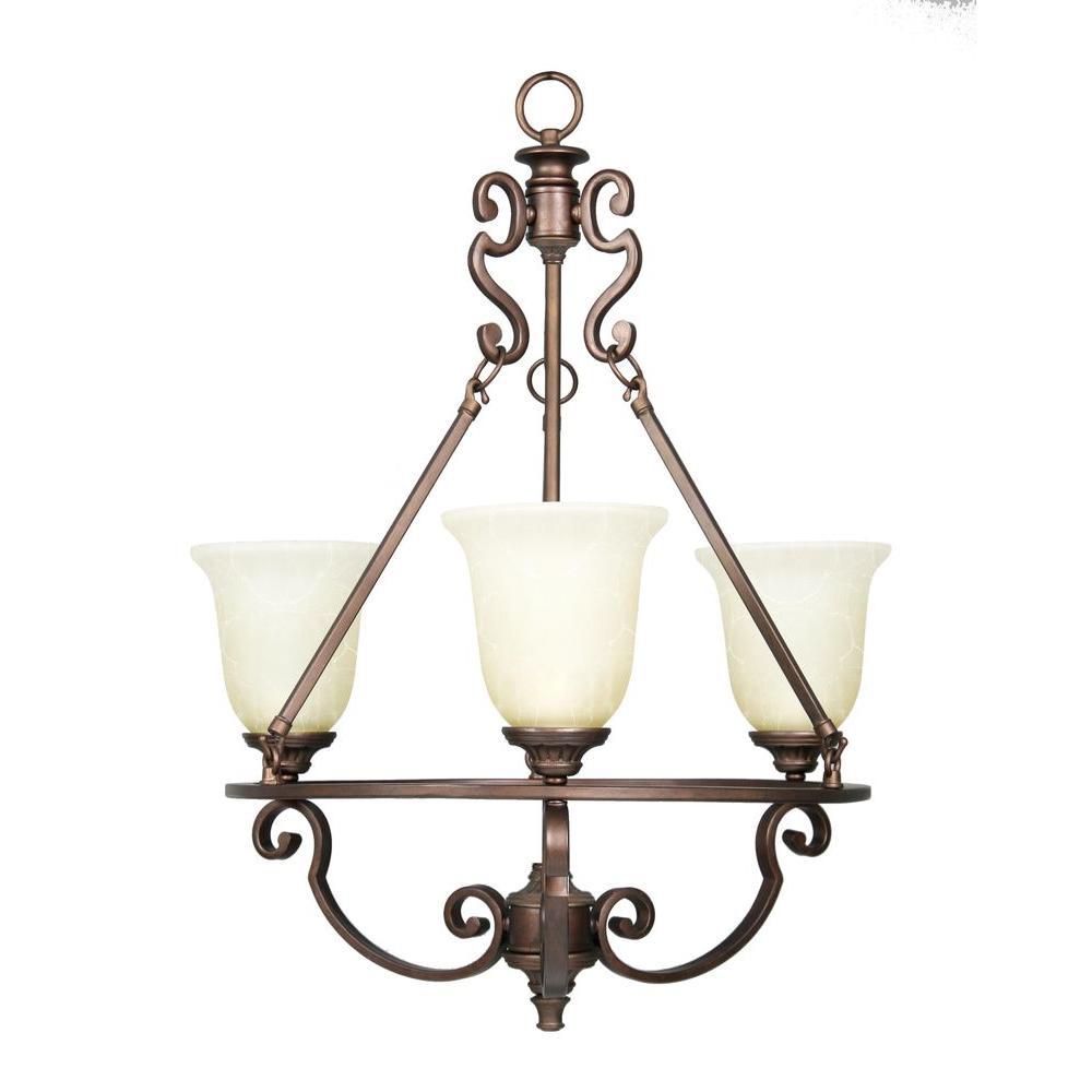 Fairview 3 Light Heritage Bronze Chandelier