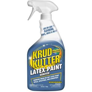 Latex paint remover for clothes
