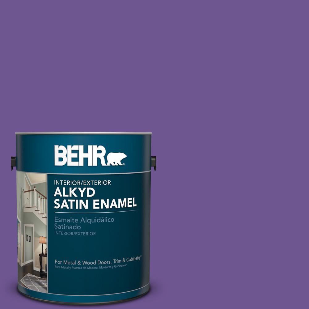 1 gal. #P570-6 Classic Waltz Satin Enamel Alkyd Interior/Exterior Paint
