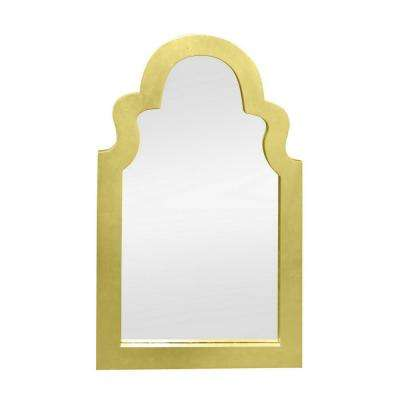 40 in. Lacquer Mirror in Gold
