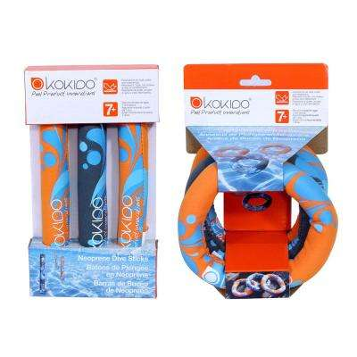 Dive Sticks and Dive Rings Pool Toy Combo Pack