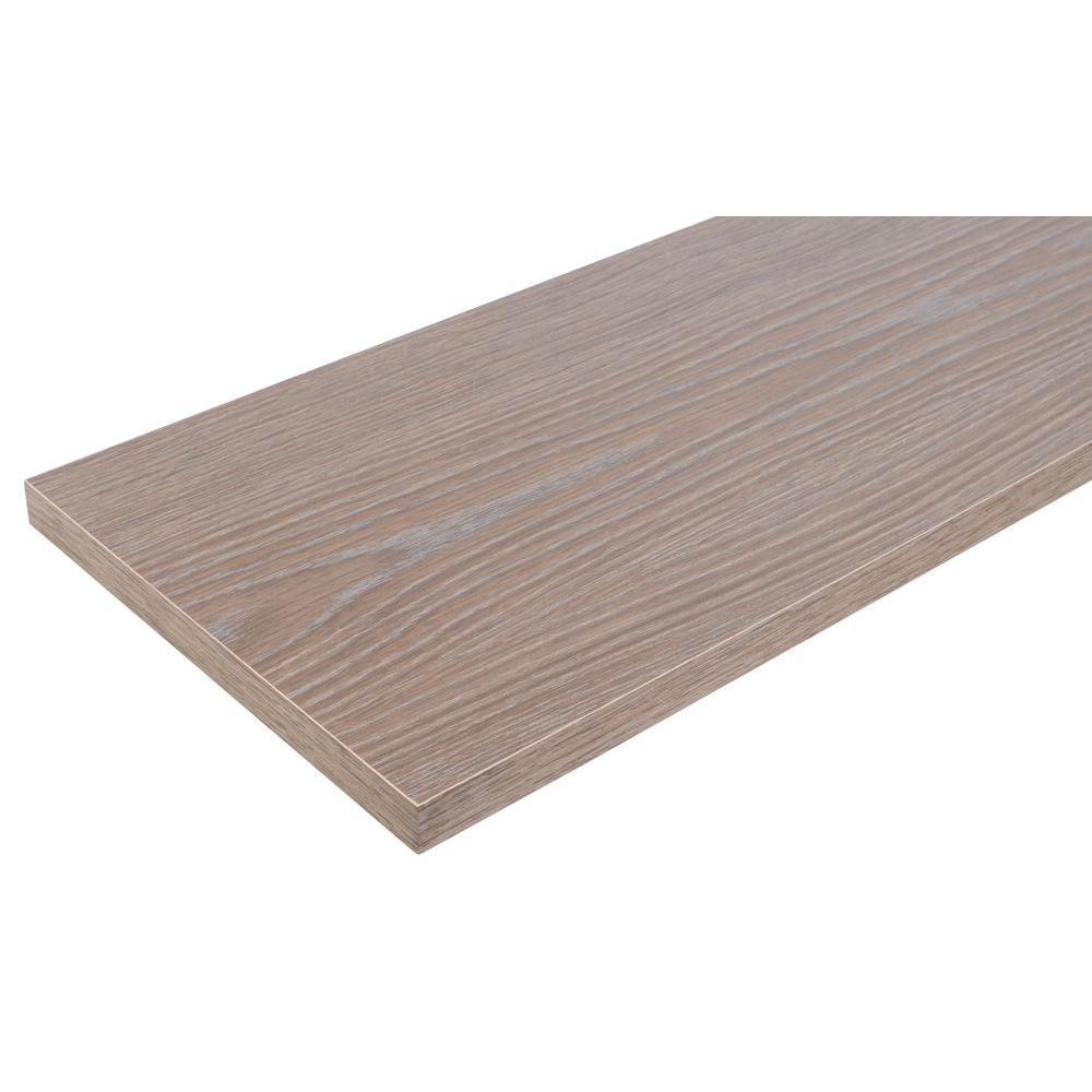 Rubbermaid 12 in. x 36 in. Gray Laminated Wood Shelf