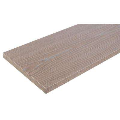 12 in. x 36 in. Gray Laminated Wood Shelf