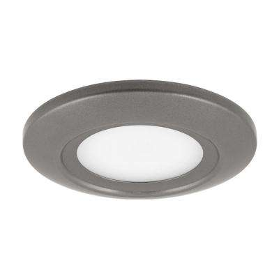 5.5 in. Surface Mount Collection 11-Watt Metallic Gray Integrated LED Flush Mount