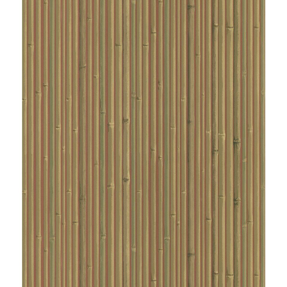 Kyoto Red Bamboo Wallpaper Sample