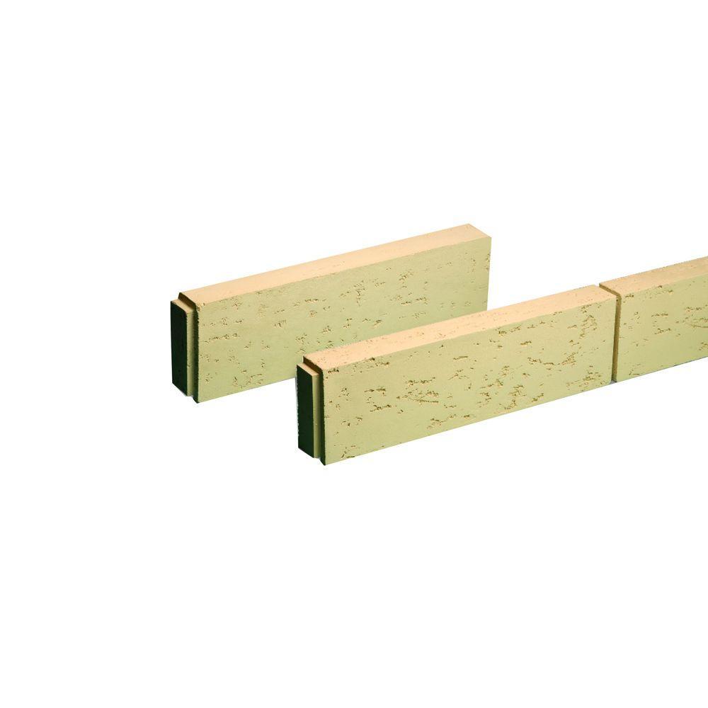 Fypon 9-15/16 in. x 24 in. x 3-7/8 in. Polyurethane Stone Texture Flat Block