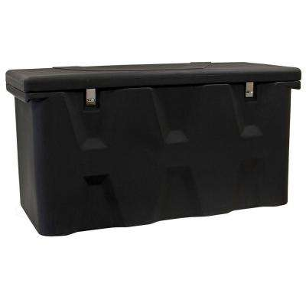 23 in. x 25 in. x 77 in. Matte Black Plastic All-Purpose Truck Tool Box Chest