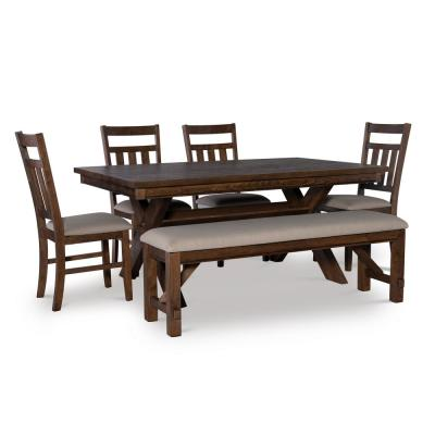 6-Piece Powell Krause Rustic Umber Dining Set