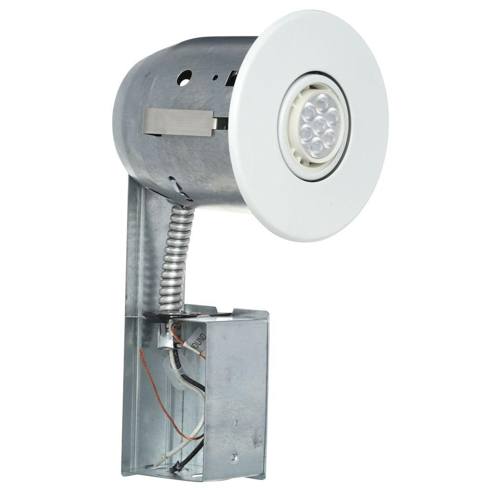 Globe Electric 4 In White Recessed Lighting Kit With Led