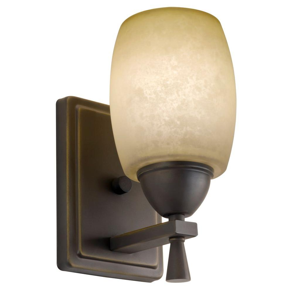 lithonia lighting ferros 1-light antique bronze wall sconce-11531