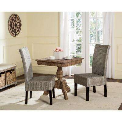 Arjun Wicker Chair in Antique Grey (2-Pack)
