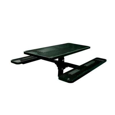 6 ft. Commercial Park Rectangular Inground Mount Single Pedestal Table