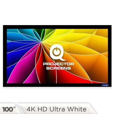 Fixed Frame Projector Screen - 16:9, 100 in. 4K HD Ultra White 1.2 Gain