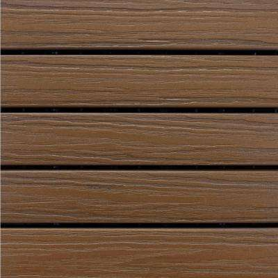 Elite 1 ft. x 1 ft. Premium Polymer Deck Tile in Walnut (10-Tile/Case)