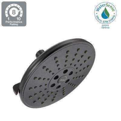 3-Spray 7-11/16 in. Fixed Shower Head with H2OKinetic with Pause in Spot Shield Venetian Bronze