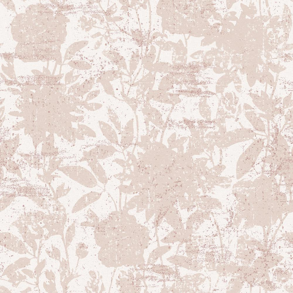 Tempaper Garden Floral Dusted Pink Peel And Stick Wallpaper 28 Sq