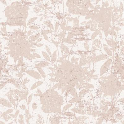 CosmoLiving Garden Floral Dusted Pink Self-Adhesive, Removable Wallpaper