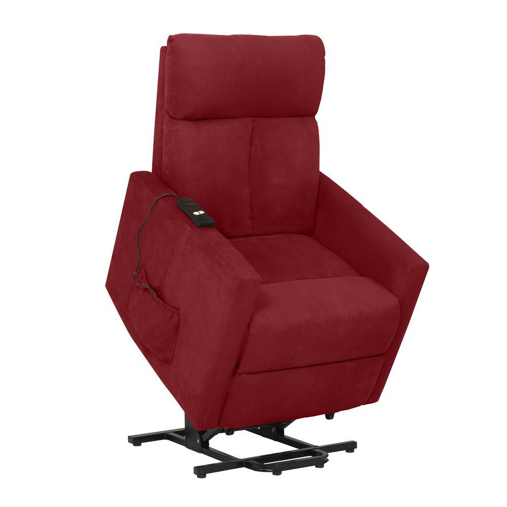 ProLounger Crimson Red Microfiber Power Lift Chair Recliner