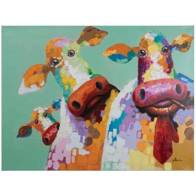 36 in. H x 48 in. W Curious Cows