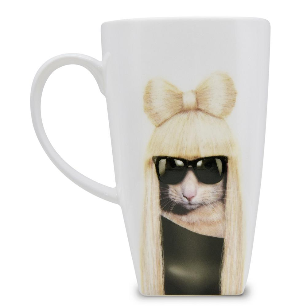 20 oz.  gg  Pets Rock Collectible Fine Bone China Mug, Gg These Pets Rock fine bone china coffee mugs give you the option to see the adorable pets you love dressed as celebrities on your mugs. Available with a variety of furry creatures to fit any animal lovers desires. What better way to start your morning than with a cup of Joe and your adorable Pets Rock buddy. The porcelain is milky white in color, beautiful in shape and comfortable in your hand. Color: GG.