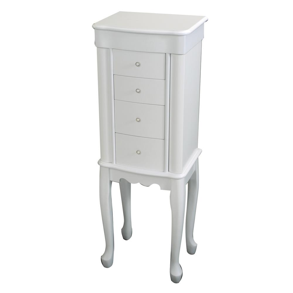 venetian worldwide antoinette off white jewelry armoire v. Black Bedroom Furniture Sets. Home Design Ideas