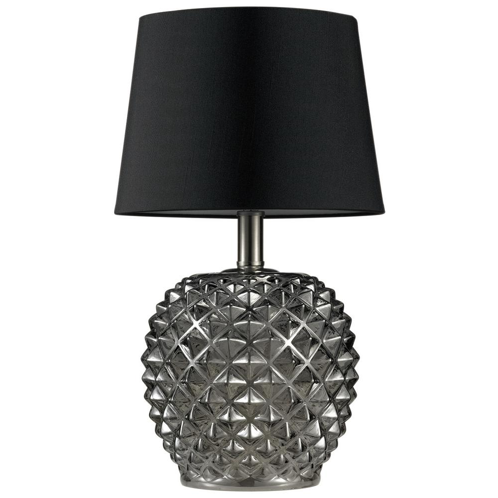 Globe Electric Nirvana 17 In Chrome Studded Table Lamp