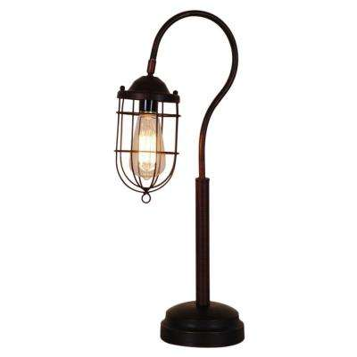 24 in. Reddish Bronze Vintage Table Lamp