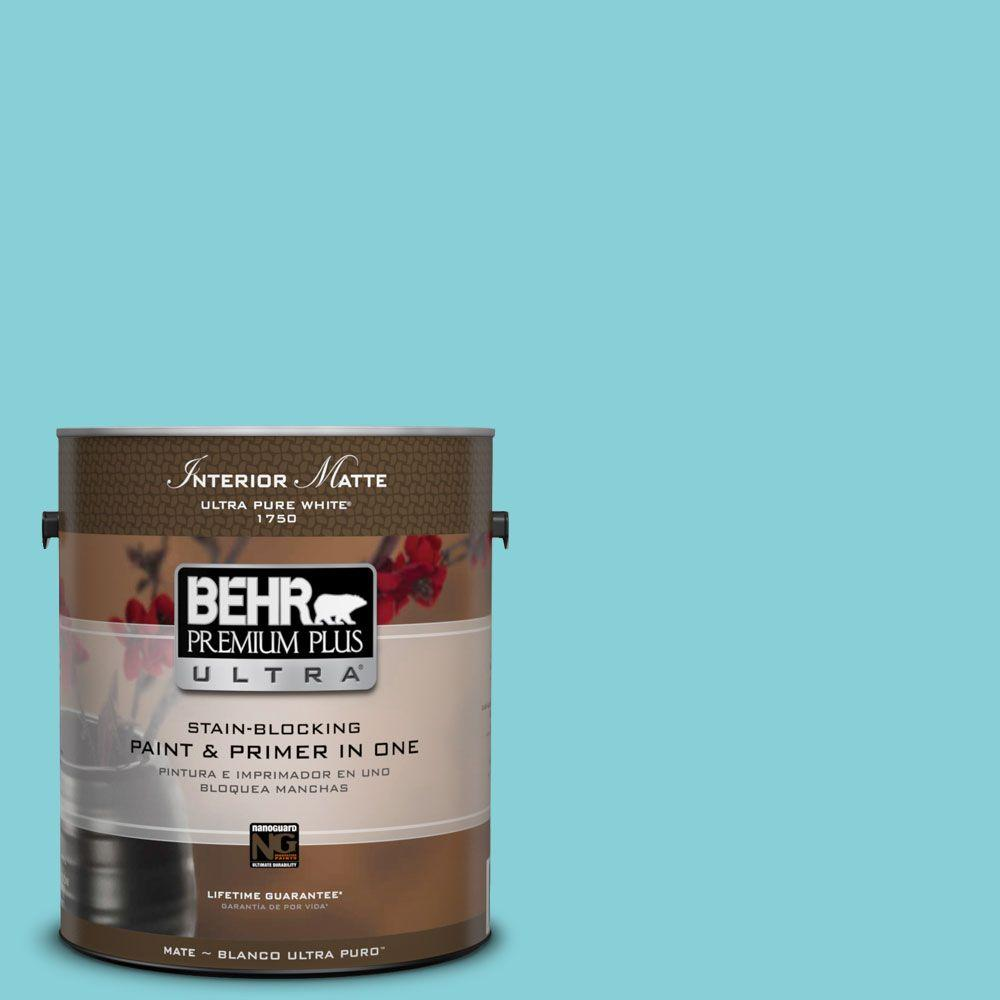 BEHR Premium Plus Ultra Home Decorators Collection 1 gal. #HDC-MD-14 Sky Watch Flat/Matte Interior Paint