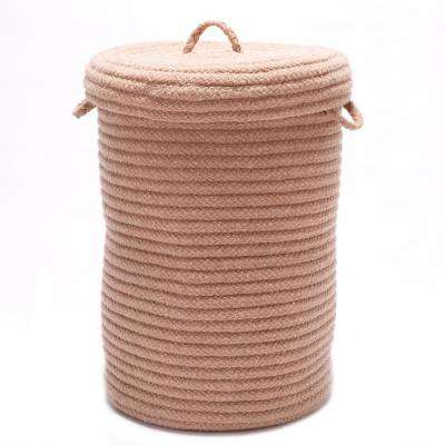 16 in. x 16 in. x 24 in. Ever Gold Blended Wool Hamper
