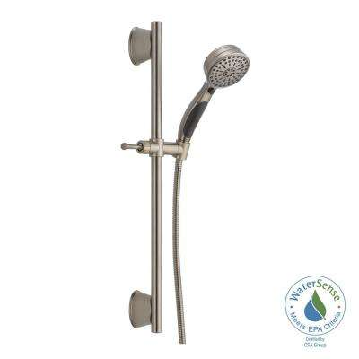 ActivTouch 9-Spray Handheld Showerhead with Slide Bar and Pause in Stainless