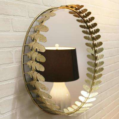 Gold Feather Rim Mirrors (Set of 3)
