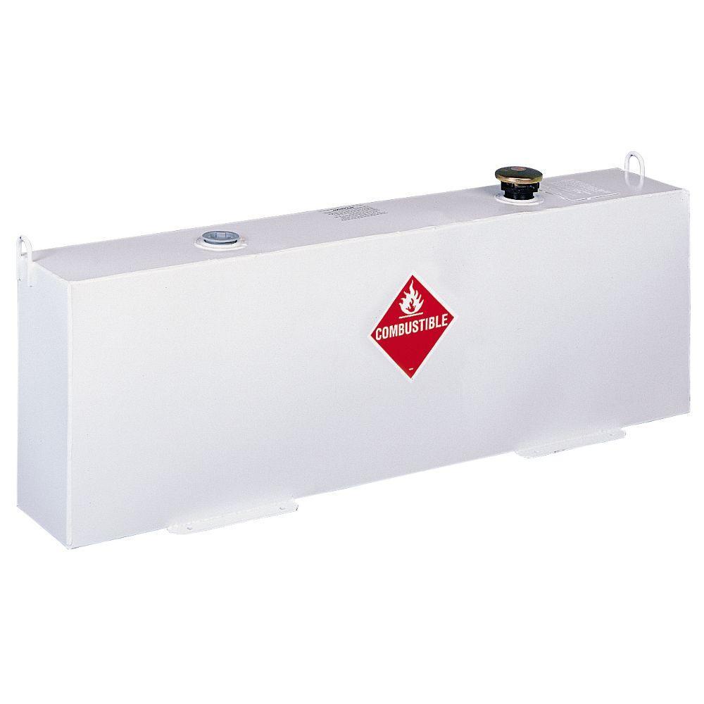 Delta Vertical Steel Liquid Transfer Tank in White