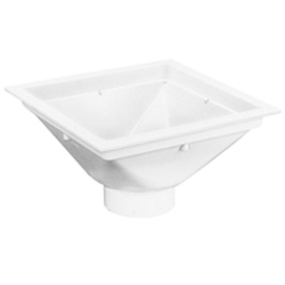 Zurn 14 In X 14 In Pvc Floor Sink With 4 In Pvc Hub