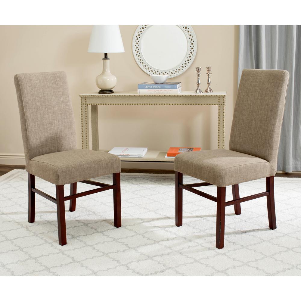 Safavieh Olive Beige Dining Chair Set Of 2 Hud8205h Set2