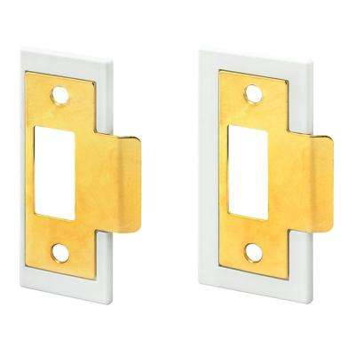 1-3/8 in. and 1-3/4 in. Brass Plated Fix-A-Latch Strike Plate Repair Kit