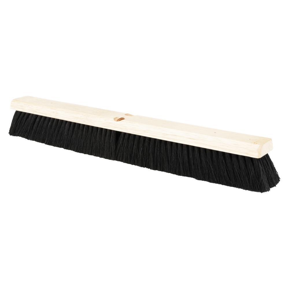 Floor Brush Head, 2 1/2 in. Black Tampico Fiber, 24 in.