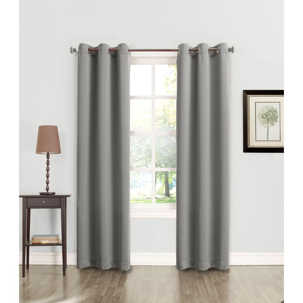Sun Zero Semi Opaque Tovi Gray Room Darkening Curtain Panel