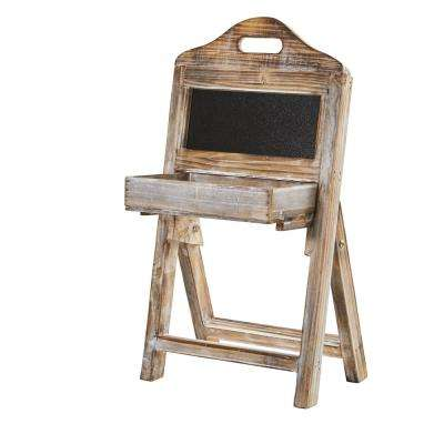21 in. Whitewash Wood Chalkboard Rack