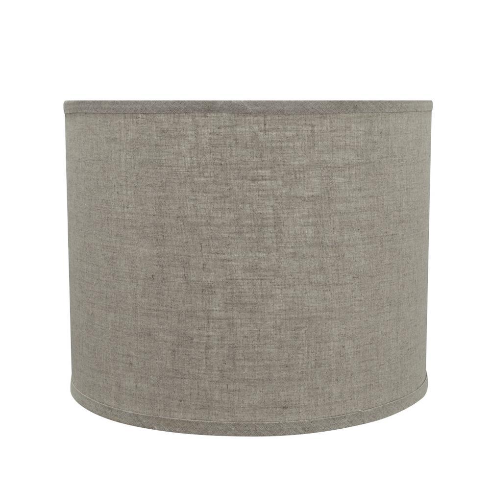 Grey Hardback Drum Cylinder Lamp Shade