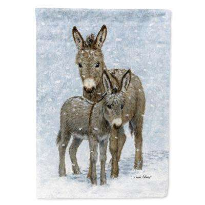 28 in. x 40 in. Polyester Donkeys Flag Canvas House Size  2-Sided Heavyweight