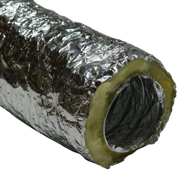 HVAC 6 in. x 25 ft. Insulated-Flex Ducting Ventilation Duct Hose